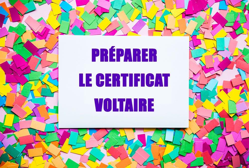Préparer le certificat voltaire