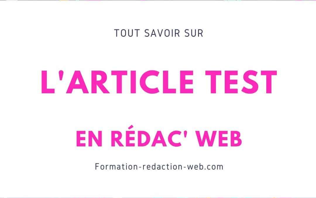 article test rédaction web